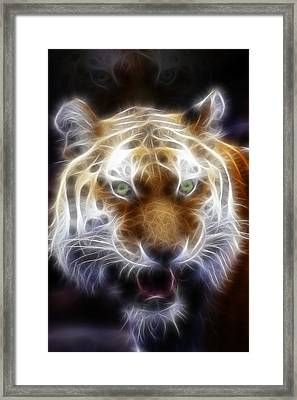 Tiger Greatness Digital Painting Framed Print