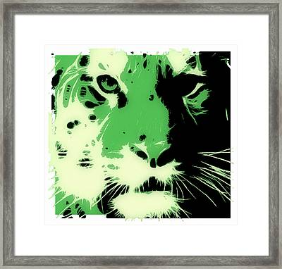 Tiger Green Framed Print