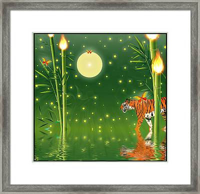 Tiger Hour Framed Print