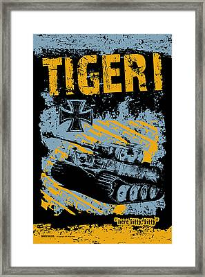 Tiger I Framed Print by Philip Arena