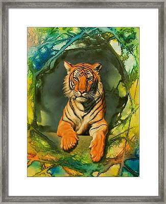 Tiger In Abstract Framed Print by Paul Krapf