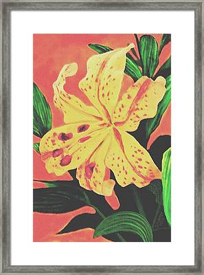 Framed Print featuring the painting Tiger Lily by Sophia Schmierer