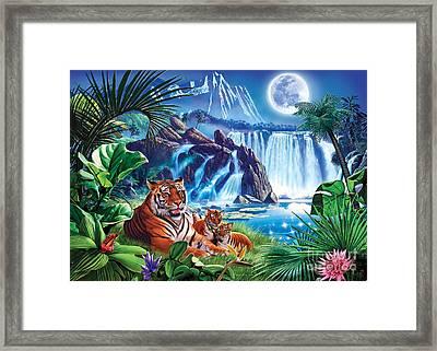 Tiger Moon Framed Print