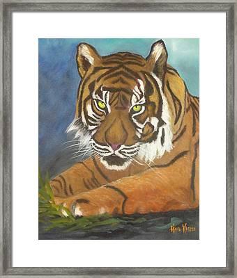 Tiger One Framed Print by  Kathie Kasper