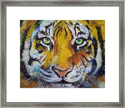 Tiger Psy Trance Framed Print