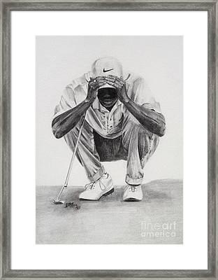 Tiger Putting Framed Print by Devin Millington