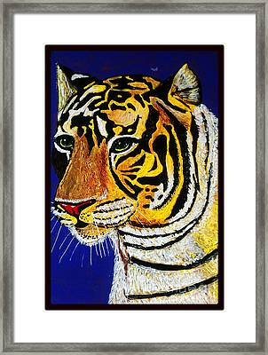Tiger Framed Print by Saundra Myles