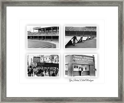 Tiger Stadium Nine Framed Print by John Farr