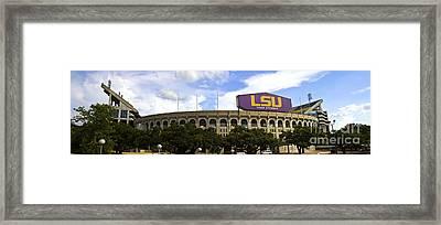 Tiger Stadium Panorama Framed Print by Scott Pellegrin
