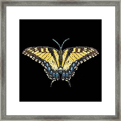 Tiger Swallowtail Butterfly Bedazzled Framed Print