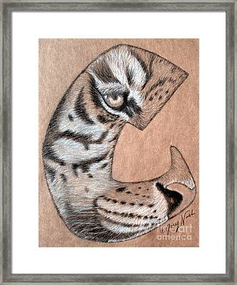 Tiger Tattoo Framed Print by Joey Nash