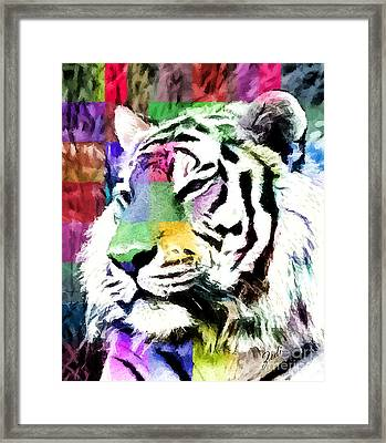 Framed Print featuring the painting Tiger - Tigre by Ze  Di