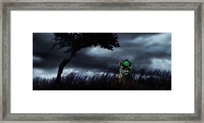 Tiger Wearing Night Vision Goggles Framed Print by Panoramic Images