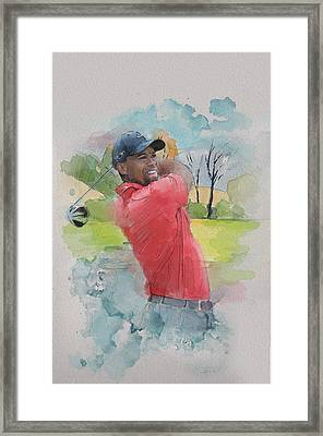 Tiger Woods Framed Print by Catf