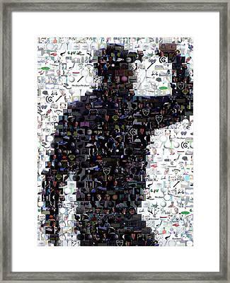 Tiger Woods Fist Pump Mosaic Framed Print