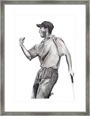 Tiger Woods Iconic Framed Print by Devin Millington