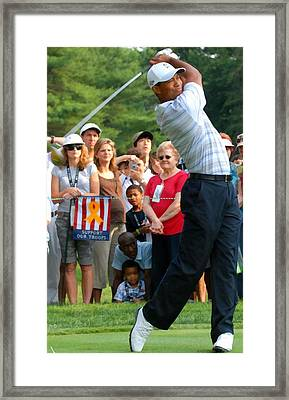 Tiger Woods Framed Print by Molly Burgess