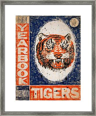 Tiger Yearbook 1964 Scratched Framed Print by John Farr