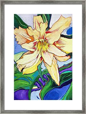 Tigerlily Framed Print by Jamie Downs