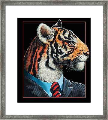 Tigerman Framed Print