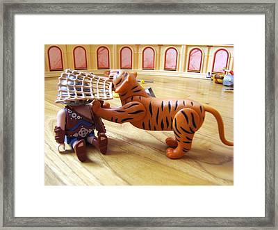 Tiger's Revenge Framed Print by Marc Philippe Joly