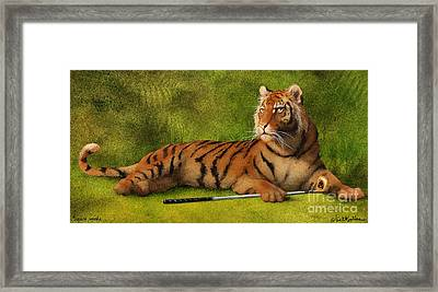 Tigers Woods... Framed Print by Will Bullas