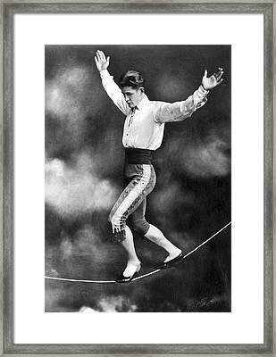 Tightrope Walker Con Colleano Framed Print