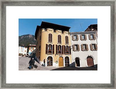 Tignale, Lago Di Garda, Lombardia, Italy Framed Print by Sergio Pitamitz