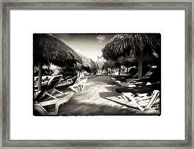 Tiki Corner Framed Print by John Rizzuto