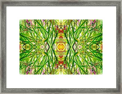 Tiki Idols In The Grass  Framed Print
