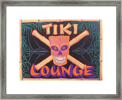 Tiki Lounge Framed Print