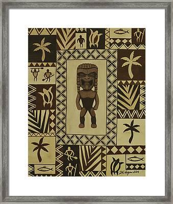 Tiki N Tapa Framed Print by DK Nagano