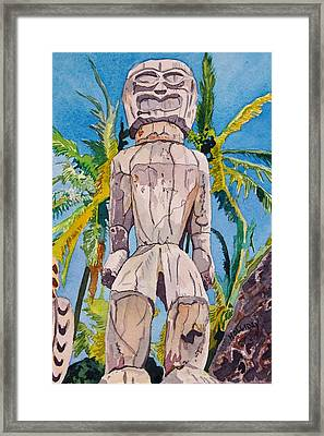 Tiki Framed Print by Terry Holliday