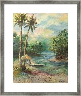 Tiki Time Framed Print by Annie St Martin