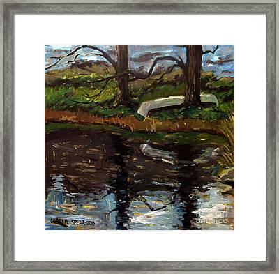 Til Canoe Time Framed Print by Charlie Spear