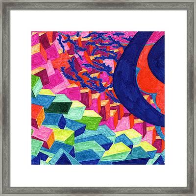 Tile 52 - Space Junk Framed Print by Sean Corcoran
