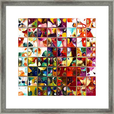 Tile Art 11 2013. Modern Mosaic Tile Art Painting Framed Print by Mark Lawrence