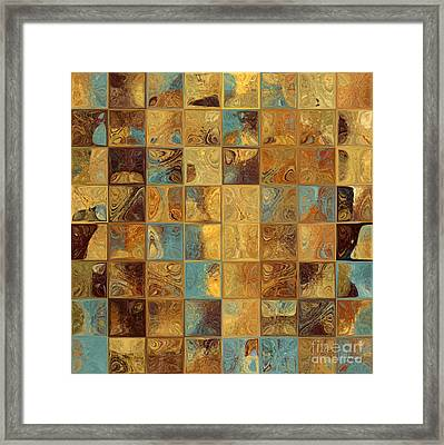 Tile Art 16 2013. Modern Mosaic Tile Art Painting Framed Print by Mark Lawrence