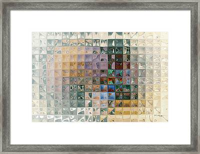 Tile Art 7 2012 Framed Print by Mark Lawrence