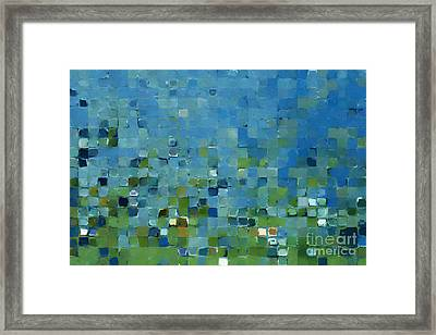 Tile Art 7 2013. Modern Mosaic Tile Art Painting Framed Print by Mark Lawrence
