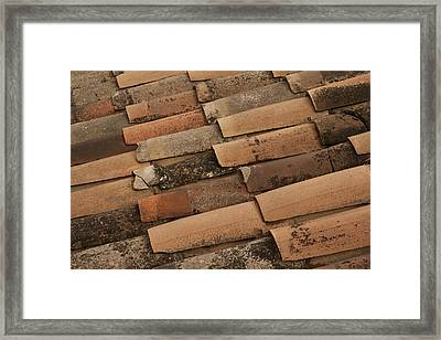 Tile Roof Of Gordes Framed Print