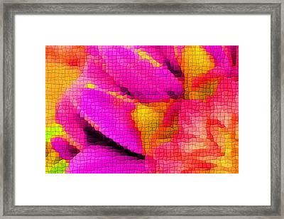 Tiled Dahlia Framed Print