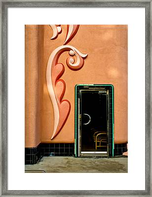 Tiled Door Framed Print