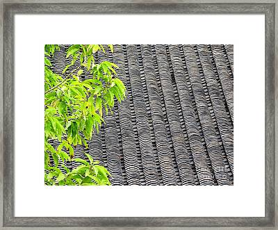 Tiled Roof Framed Print by Ethna Gillespie