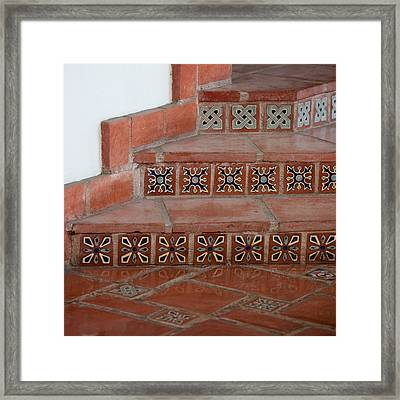 Tiled Stairway Framed Print by Art Block Collections