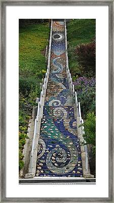 Tiled Steps Framed Print