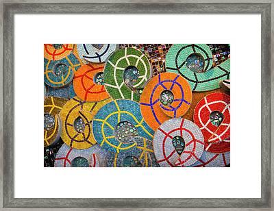 Tiled Swirls Framed Print by Adam Romanowicz