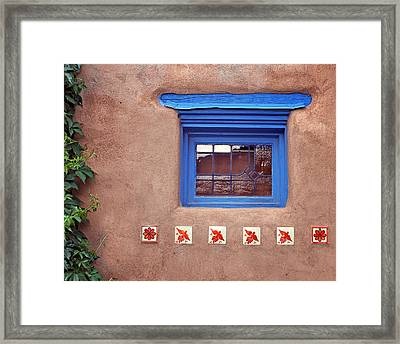 Tiles Below Window Framed Print
