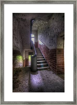 Tiles Stairs And A Window Framed Print