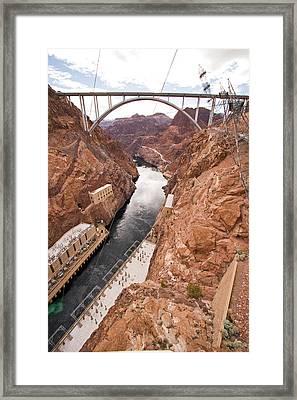 Tilghman Bridge From The Hoover Framed Print